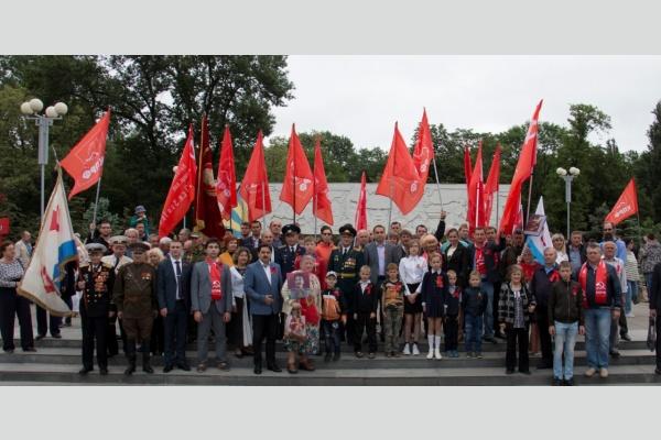 Активисты КПРФ отметили Красный День Победы в Краснодаре